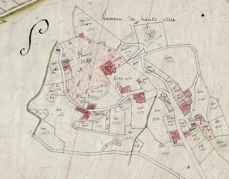 An old map of Haute Village